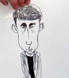 sample drawing by live caricaturist
