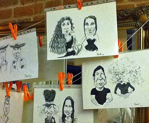 21st birthday live caricataure, Tenbury Wells, Worcestershire