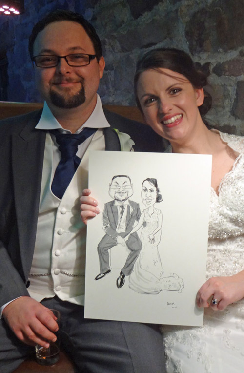 caricature for wedding in derbyshire