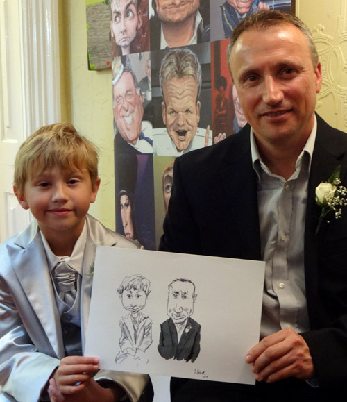 Wedding caricature from worcester