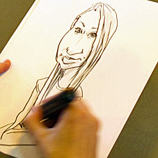 Get a quote to find out the price of hiring a caricaturist for your wedding